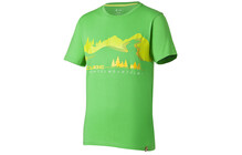 T-Shirt Cube Fichtelmountains vert/jaune
